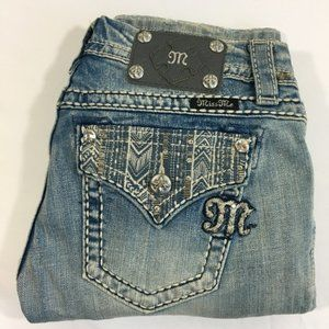 MISS ME JEANS Signature Cropped Size 27